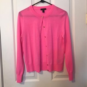 J. Crew Pink with Gold Button Sweater